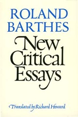 New Critical Essays by Roland Barthes