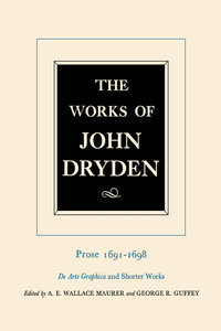The Works of John Dryden, Volume XX by John Dryden, George R. Guffey, Alan Roper