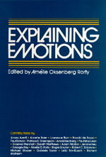 Explaining Emotions by Amélie Oksenberg Rorty