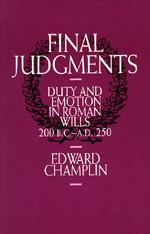 Final Judgments by Edward Champlin