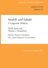 Swahili and Sabaki by Derek Nurse, Thomas J. Hinnebusch