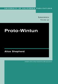 Proto-Wintun by Alice Shepherd