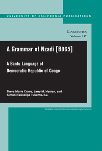 A Grammar of Nzadi [B865] by Thera Marie Crane, Larry M. Hyman, Simon Nsielanga Tukumu