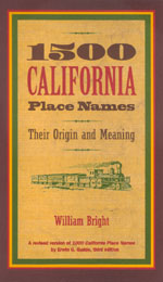 1500 California Place Names by William Bright