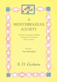 A Mediterranean Society, Volume V by S. D. Goitein