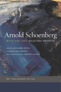 Style and Idea by Arnold Schoenberg, Leonard Stein