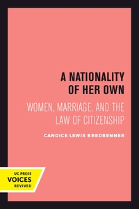 A Nationality of Her Own by Candice Lewis Bredbenner