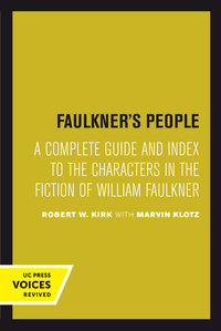 Faulkner's People by Robert W. Kirk