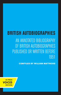 British Autobiographies by