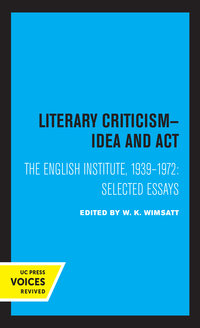 Literary Criticism by W. K. Wimsatt