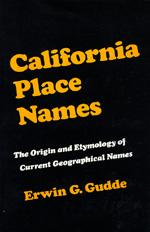 California Place Names by Erwin G. Gudde