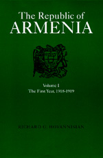 The Republic of Armenia, Vol. I by Richard G. Hovannisian