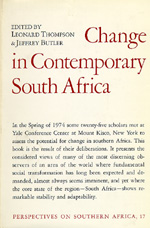 Change in Contemporary South Africa by Leonard Thompson, Jeffrey Butler