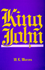 King John, Revised edition by W. L. Warren