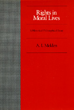 Rights in Moral Lives by A. I. Melden