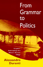 From Grammar to Politics by Alessandro Duranti