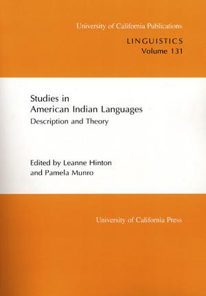 Studies in American Indian Languages by Leanne Hinton, Pamela Munro