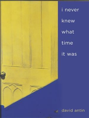 i never knew what time it was by David Antin