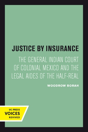 Justice by Insurance by Woodrow Borah