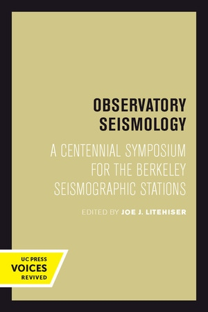 Observatory Seismology by Joe J. Litehiser