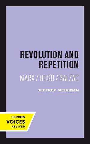 Revolution and Repetition by Jeffrey Mehlman