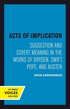 Acts of Implication by Irvin Ehrenpreis