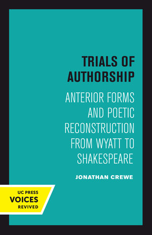 Trials of Authorship by Jonathan Crewe