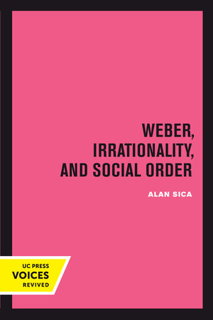Weber, Irrationality, and Social Order by Alan Sica