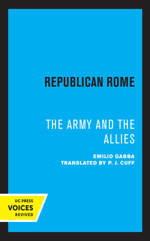 Republican Rome by Emilio Gabba