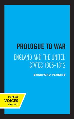 Prologue to War by Bradford Perkins