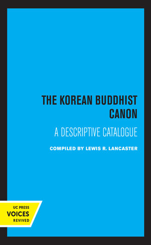 The Korean Buddhist Canon by