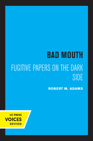 Bad Mouth by Robert M. Adams