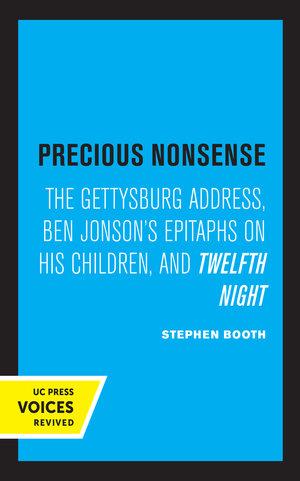 Precious Nonsense by Stephen Booth