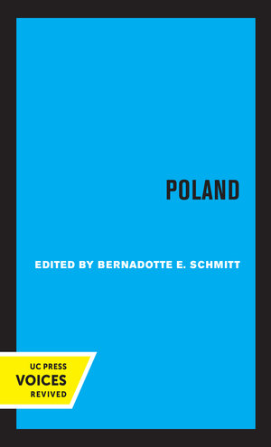 Poland by Bernadotte E. Schmitt