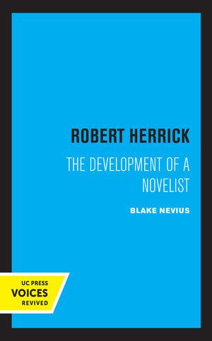 Robert Herrick by Blake Nevius
