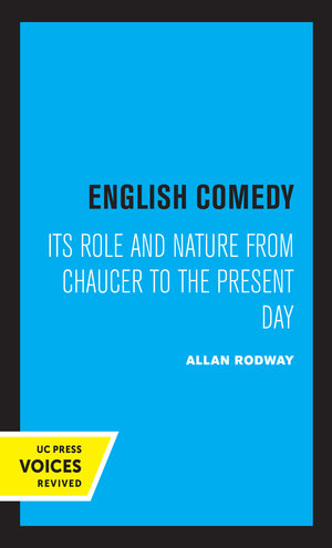 English Comedy by Allan Rodway