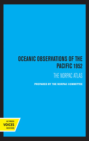 Oceanic Observations of the Pacific 1952 by Scripps Institution of Oceanography