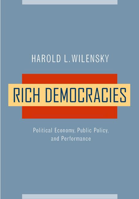 Rich Democracies Harold L Wilensky Paperback