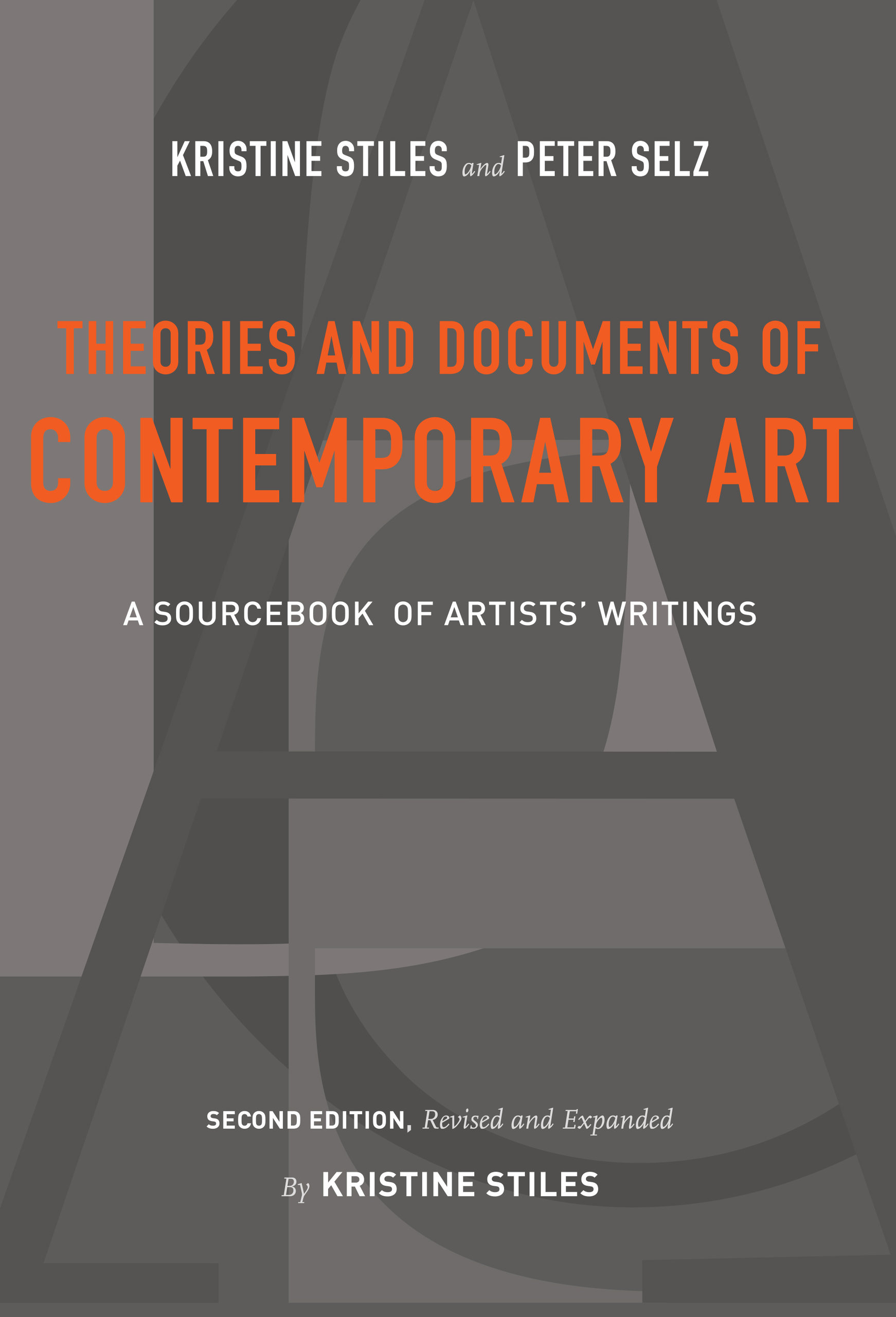 Theories And Documents Of Contemporary Art By Kristine